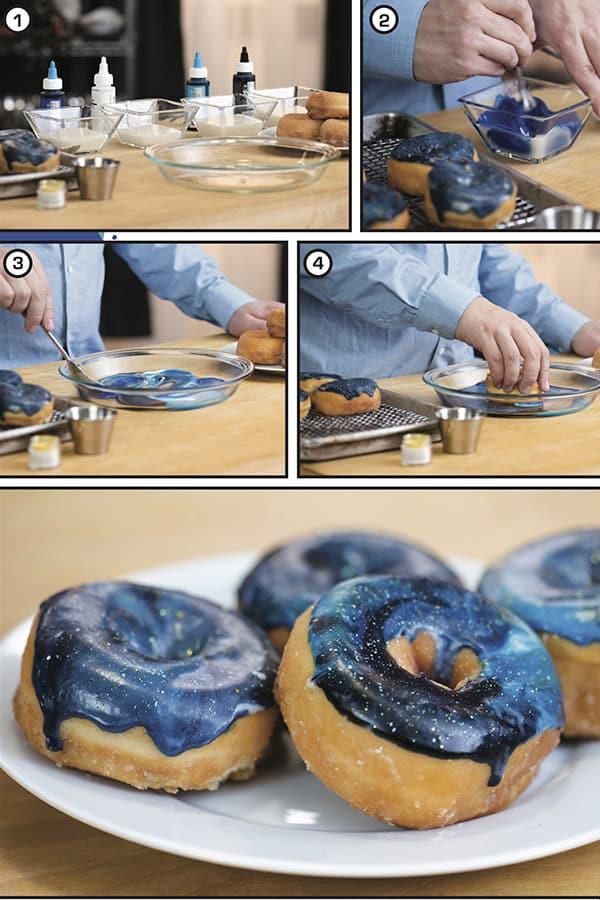 Nova Space-Cop Galaxy Doughnuts step by step